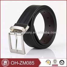 Leather Belt With Covered Buckle