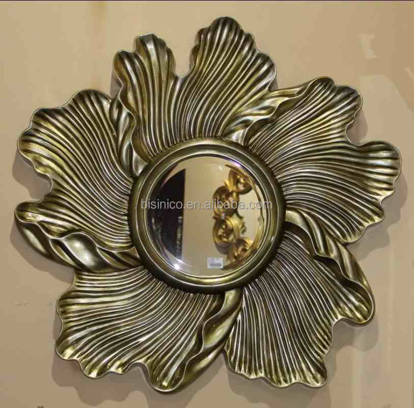 Unique Design Flower Shaped Wall Hanging Mirror Classical
