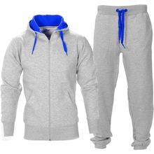 2015 new style tracksuit for men with your own logo Mens Blue Contrast sportswear sets