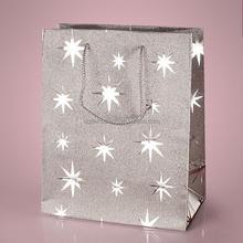 2015 Hot Sale Fashionable Silver Star Metallic Print Euro Tote Bags