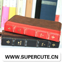 Book style leather case with card slots for mobile phone