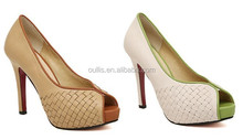 2015 Top fashion high heel peep toe shoes/peep toe pumps/peep toe platform heels for party PM2384