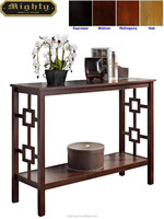 (No Tools Assembly) Wooden Square Frame Shape Panel Console Table