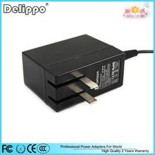 Folding plug ac/dc converter transformer input voltage ac 110 220 230 to 12v 2a power supply adapter for led driver lights