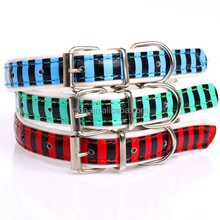 Pet Supplies Pet Cat Dog Strong and durable Adjustable PU Leather Collar