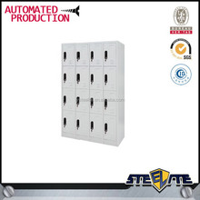 Large 16 compartments CKD 4-layer white 16-door metal ski locker for sale See larger image large