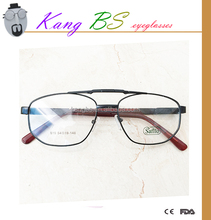 eyewear frame glasses high quality wide temple metal optical frames wholesale manufacturers in china