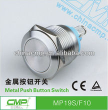 CMP 19mm Stainless steel waterproof anti-vandal SPST push button ip67(AC/DC) tact switch