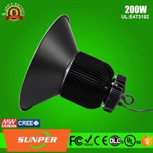 SMD CREEled Meanwell driver long lifespan 200w led high bay hanging lights