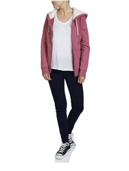 blank pink zip up thick hoodies for women