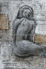 Impressionism beautiful lady nude woman handmade Canvas Oil Painting