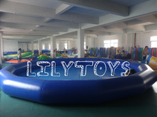 Outdoor Inflatable Frame Pool Above Ground PVC Frame Pools Swimming Pool With Water Toy Football Basketball Hoop For Sport