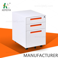 3 drawer mobile pedestal office workstation storage