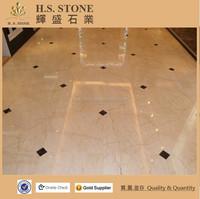 Decoration Interior beige marble Sofita gold beautiful paper marble floor design picture