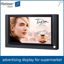 flintstone 7inch lcd sd card video player, supermarket shelf lcd display, 7 inch point of purchase video display