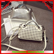 2014 wholesale Fashion Rivet shoulder bag,lady handbag and wallet