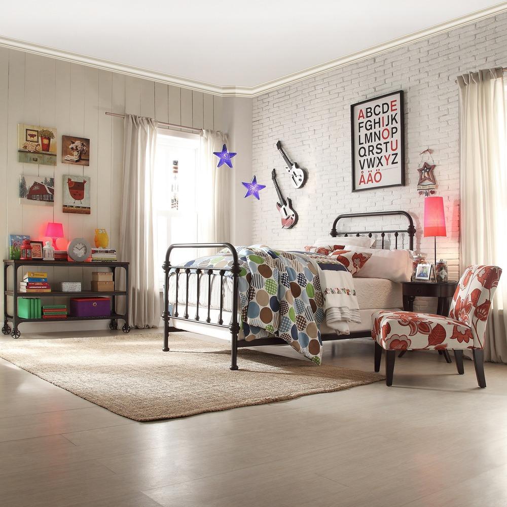 Thuis bed moderne metalen eenpersoonsbed/metalen eenpersoonsbed ...