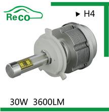 2S Auto parts 3600LM H4 car led headlight high low beam h1/H3/H4/H7/H11/H13
