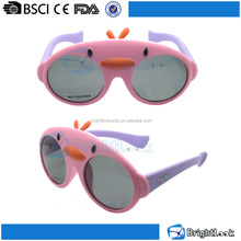 Newest design roundness bird shaped frame cute girl kid's sunglasses CE&FDA