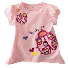 Cotton children girl's T shirt,cartoon bug designs 2014 Summer