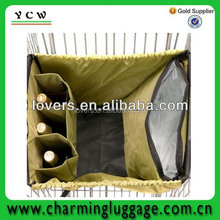 Shenzhen factory supermarket shopping cart bag with compartments