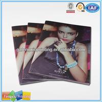 Perfect Glue Binding Quarterly Woman Cosmetic Magazine Printing