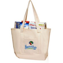 Factory price hot selling canvas grocery bag