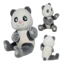 2015 Newest Design Fashion Panda Toys Flocked Toys
