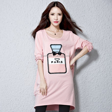Autumn maternity T-shirt, long sleeve T-shirt, big size cotton T-shir