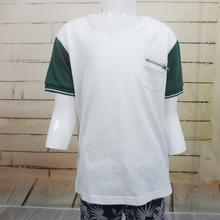 Algodão spandex crianças camisa sublimação t com porket