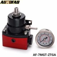 AUTOFAB - High Performance -6AN JDM Adjustable Black-Red Fuel Pressure Regulator 0-150 PSI AF-7MGT-ZTGA