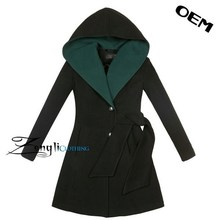 High quality newest european style lady long woolen coat/jacket