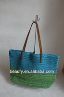 promotion 2013 western style lady's paper straw tote bags