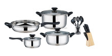 traditional 7pcs bakelite handle cookware set with cheap price