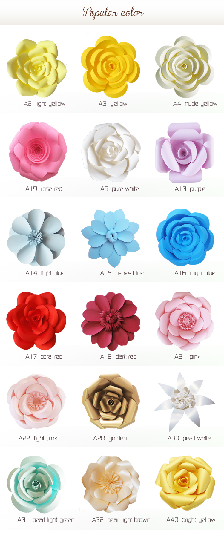 Church Giant Wedding Paper Flower On Sale - Buy Paper Flower On Sale ...