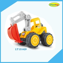 Big friction powered plastic engineering digger car toys