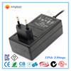 ac dc 12v 2a power adapter 24w input 100-240vac UK EU US Plug available