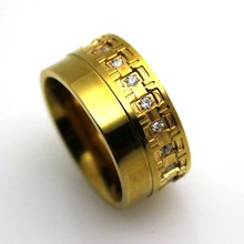 Hot sell steel ring popular stainless steel hong kong costume jewelry