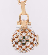 hotsale europe fashionable high quality chime ball cz crystal cage new charm
