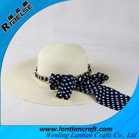 2015 new ladies summer hat cheap wide beach paper straw hat