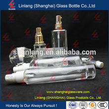 Hot Sale Customed Made Empty Clear Perfume Glass Spray Bottle