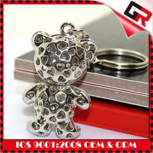Promotion custom keychain metal 3d