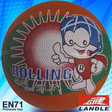 Rubber made new style colorful official size heavy material children basketball