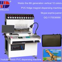 easy learn good use automatic PVC fridge magnet dispenser machine