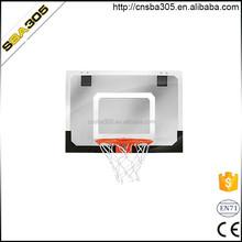 new design wall mounted basketball backboard with hoop ,wall mounted basketball hoop