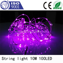 CE ROHS approved 10m 100led cheap led christmas light 9 color led chasing christmas pearl light string