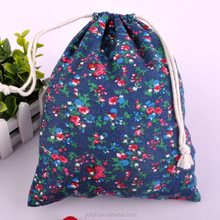 nice summer new arrival cotton floral gift pouches