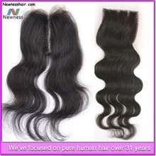 Grade 7A Full Head Double Wefted natural color 100% Human clip in lace weft human extensions