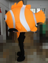 Good visual vivid sea animal soft plush clown fish costume for party, events, carnival fit all adult unisex clown fish costume