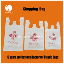 customized PE printed shopping packing plastic bag for clothes